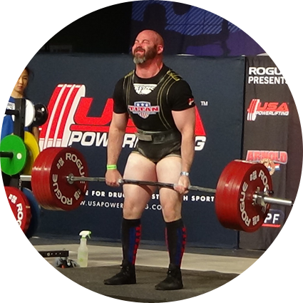 Powerlifter Bryan Dermody deadlift over 700 lbs at the Empire Classic in Spokane, WA