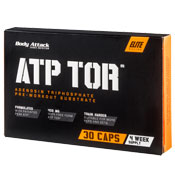 Pre-workout Supplement Body Attack ATP TOR featuring the patented ingredient PEAK ATP