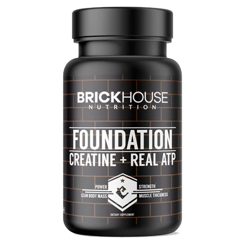 Pre-workout Supplement BrickHouse Nutrition FOUNDATION Creatine + Real PEAK ATP featuring the patented ingredient PEAK ATP
