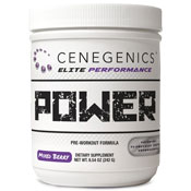Pre-workout Supplement Cenegenics ELITE Performance Power featuring the patented ingredient PEAK ATP