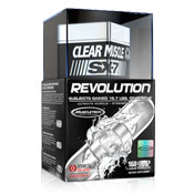 Pre-workout Supplement MuscleTech Clear Muscle SX-7 Revolution featuring the patented ingredient PEAK ATP