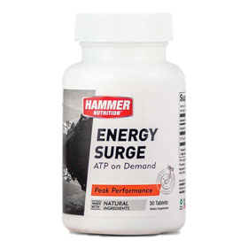 Pre-workout Supplement Hammer Nutrition Energy Surge featuring the patented ingredient PEAK ATP