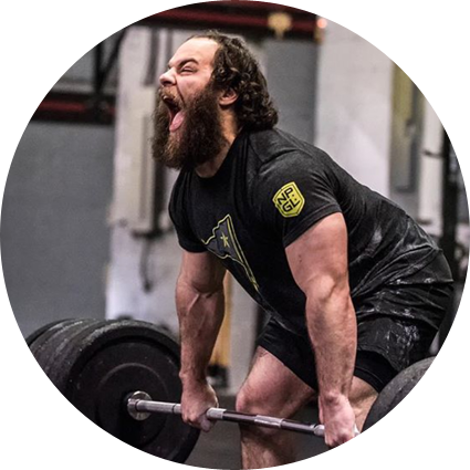 Weightlifting coach & CrossFit Games Athlete Jared Enderton training clean & jerks