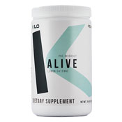 Pre-workout Supplement Kilo Alive featuring the patented ingredient PEAK ATP