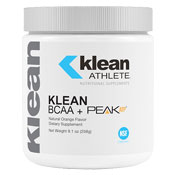 Pre-workout Supplement Klean Athlete BCAA + Peak ATP featuring the patented ingredient PEAK ATP