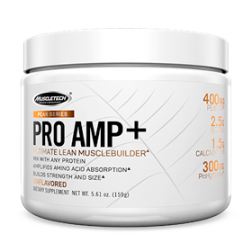 Pre-workout Supplement MuscleTech Peak Series Pro Amp+ featuring the patented ingredient PEAK ATP