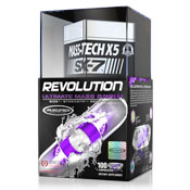 Pre-workout Supplement MuscleTech MASS-TECH X5 SX-7 Revolution featuring the patented ingredient PEAK ATP