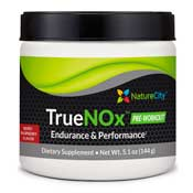 Pre-workout Supplement Nature City TrueNOx Nitric Oxide Drink Powder featuring the patented ingredient PEAK ATP
