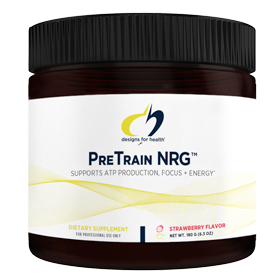 Pre-workout Supplement Designs for Health PreTrain NRG featuring the patented ingredient PEAK ATP