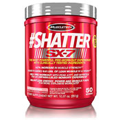 Pre-workout Supplement MuscleTech #Shatter SX-7 featuring the patented ingredient PEAK ATP