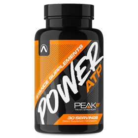 Pre-workout Supplement Stance Supplements Power ATP featuring the patented ingredient PEAK ATP