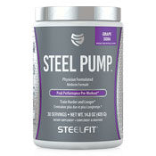 Pre-workout Supplement SteelFit Steel Pump featuring the patented ingredient PEAK ATP