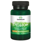 Pre-workout Supplement Swanson PEAK ATP Maximum Strength featuring the patented ingredient PEAK ATP