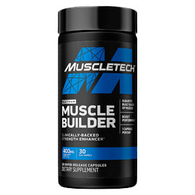 Pre-workout Supplement MuscleTech Muscle Builder featuring the patented ingredient PEAK ATP